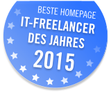 IT Freelancer des Jahres 2015 - Beste Homepage